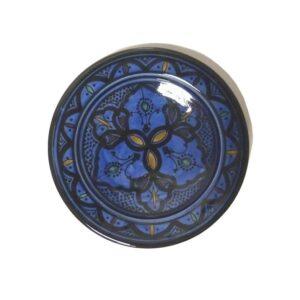 Blue Moroccan Handmade Ceramic Plate1