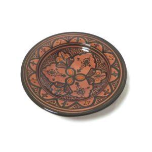 Brick Red Moroccan Handmade Ceramic Plate1