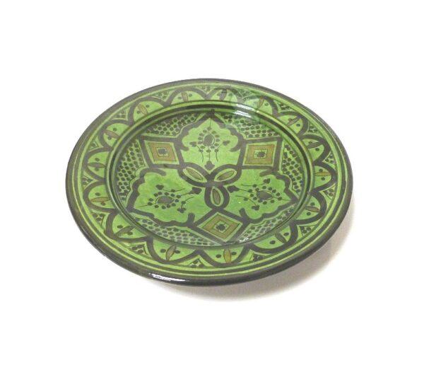 Green Moroccan Handmade Ceramic Plate