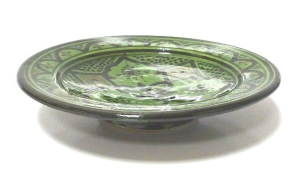 Green Moroccan Handmade Ceramic Plate2