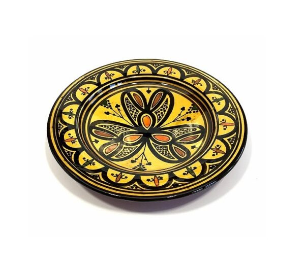 Yellow Moroccan Handmade Ceramic Plate