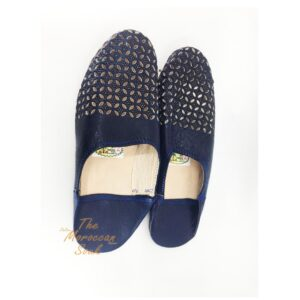 Blue Moroccan Slippers