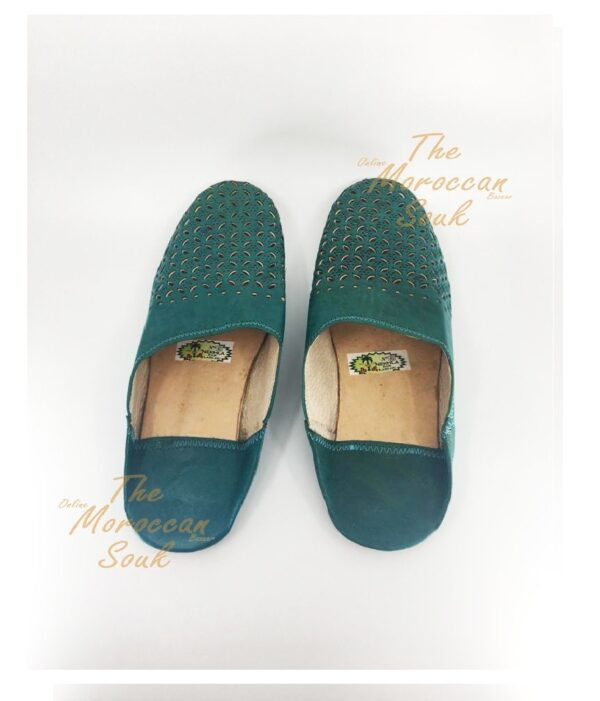 Green Moroccan Slippers
